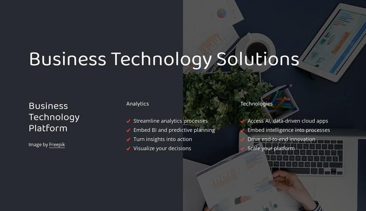 Business technology platform Web Page Designer