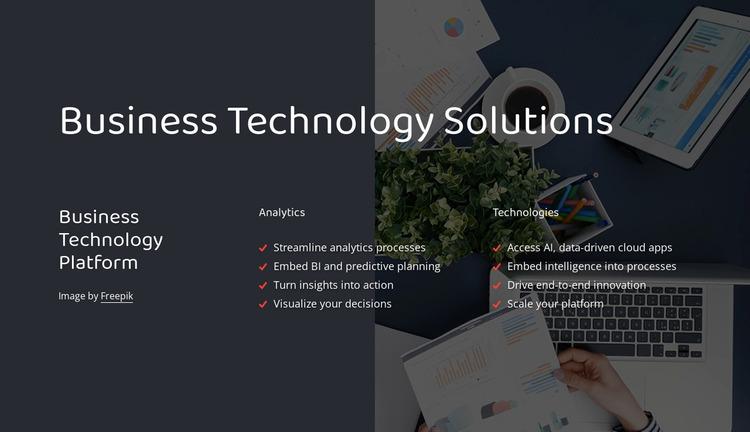 Business technology platform Website Mockup
