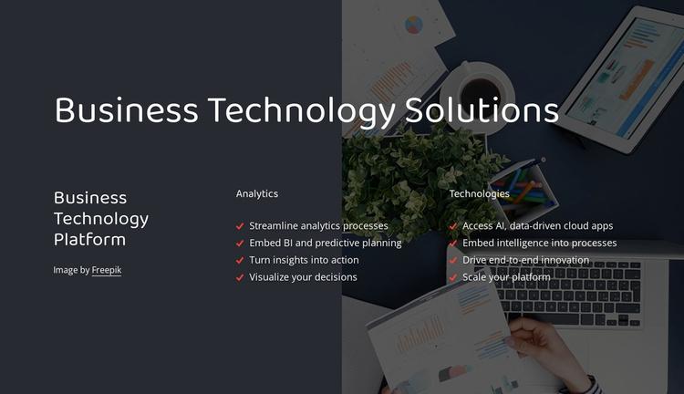 Business technology platform Website Template