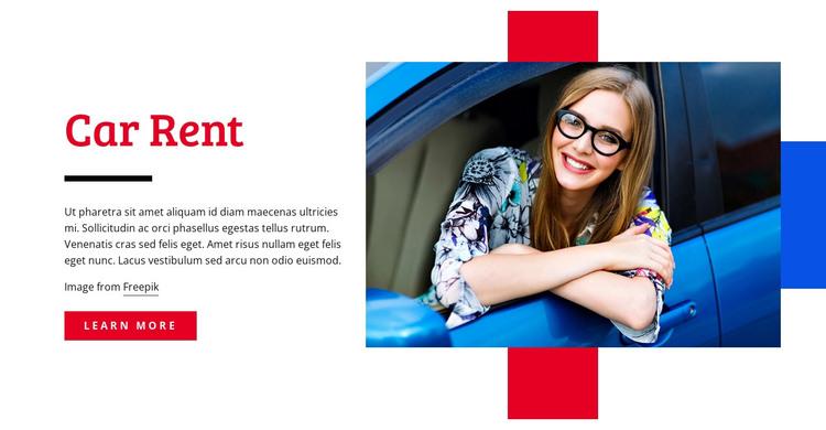 Car rental deals HTML Template