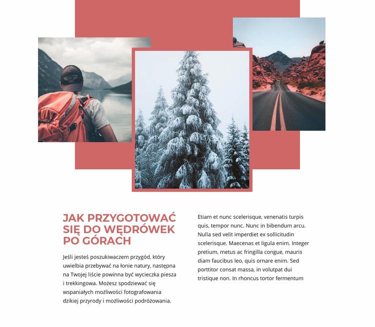 Wakacje w górach Szablon Joomla