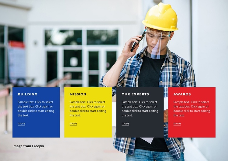 Building Company Website Template