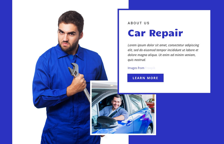Vehicle service and repair center Website Builder Software