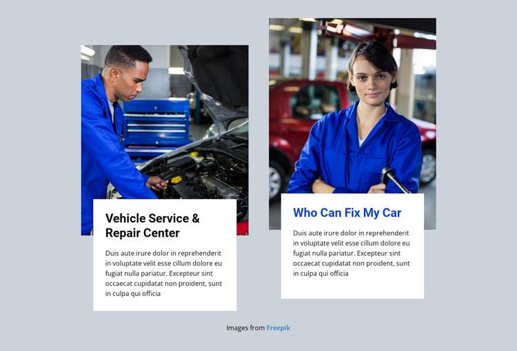 Great car mechanics HTML Template