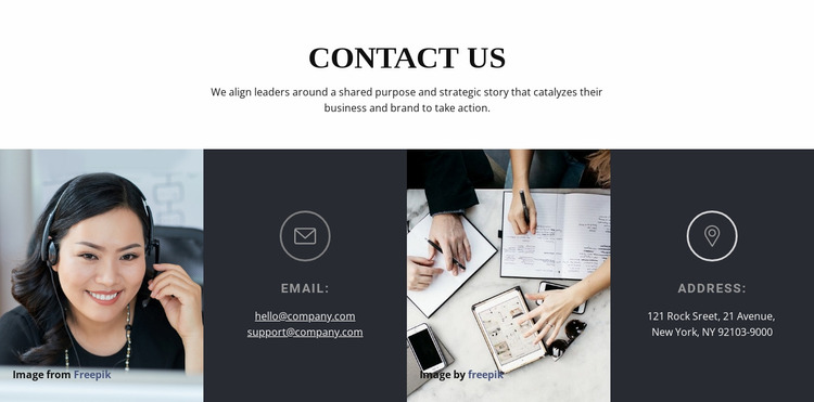 Get in touch with us Website Mockup