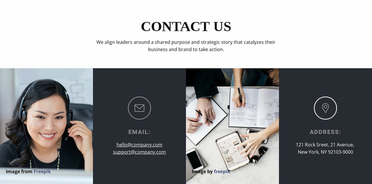Get in touch with us Website Template