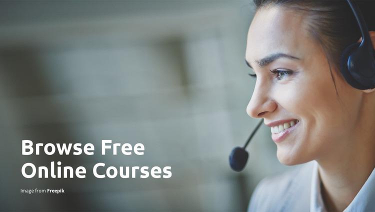 Online home learning Html Website Builder