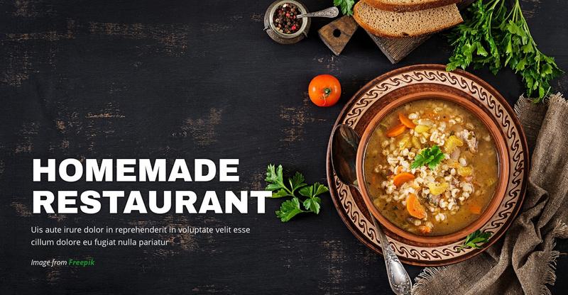 Cozy Homemade Restaurant Website Maker