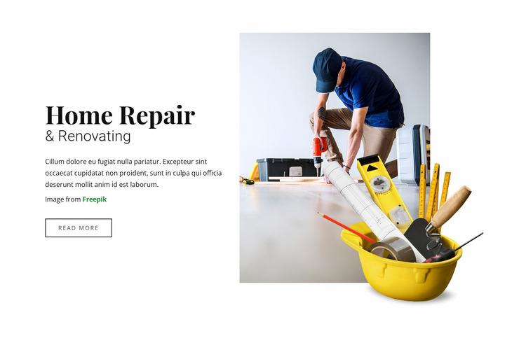 Home  Repair and Renovating Website Mockup