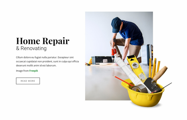 Home  Repair and Renovating Website Template