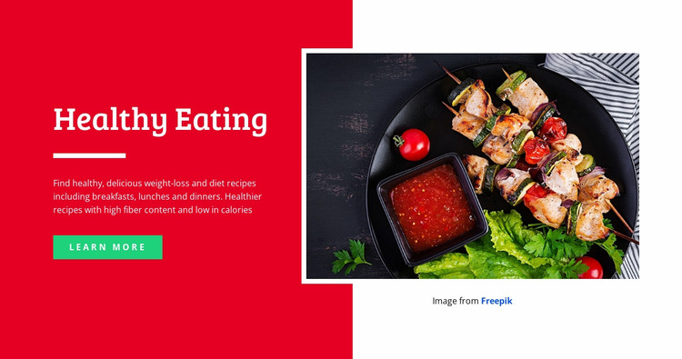 Healthy and Yummy Eating WordPress Website Builder