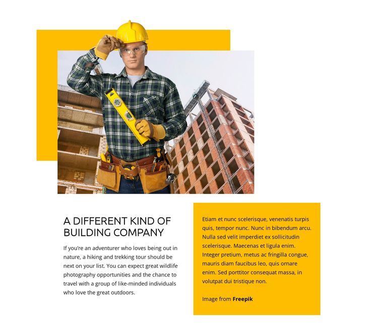 General contracting services One Page Template