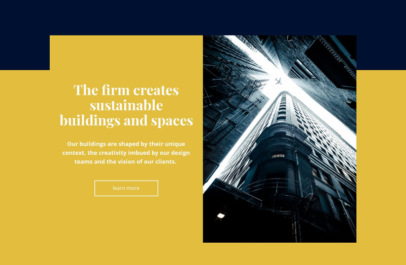 Creative building and space Web Page Designer