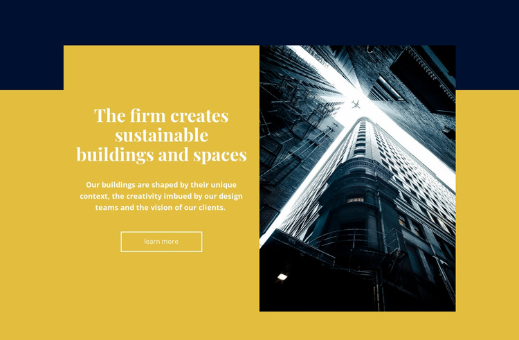 Creative building and space Landing Page