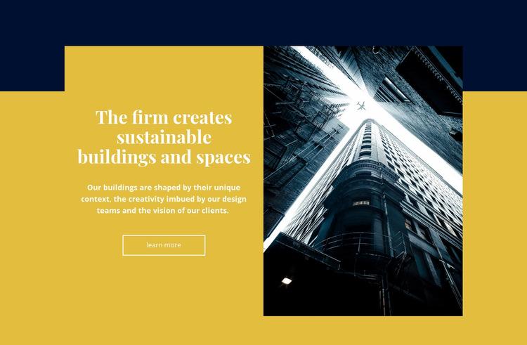Creative building and space WordPress Website