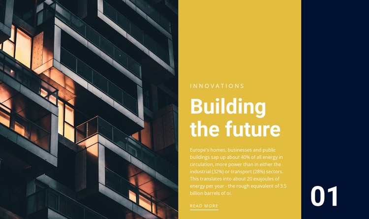 Building the future One Page Template