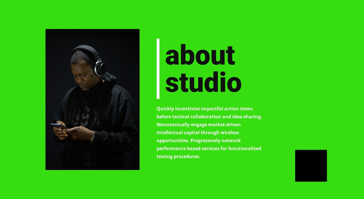 Music studio information WordPress Website Builder