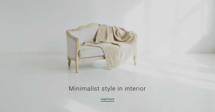 Minimalist style in interior CSS Template
