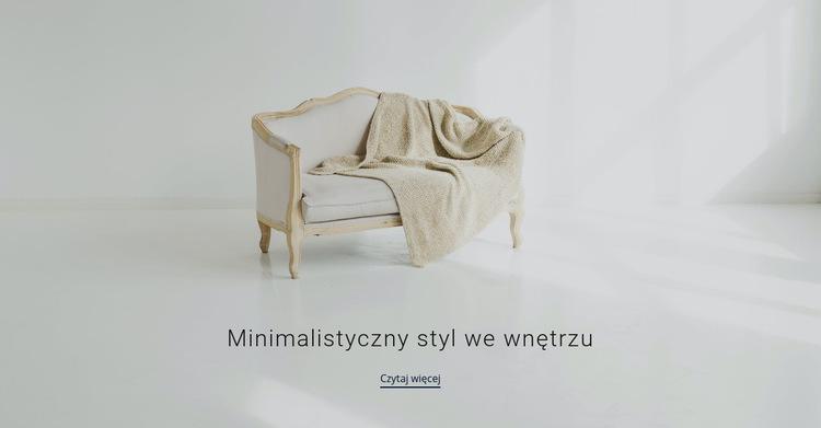 Minimalistyczny styl we wnętrzu Szablon witryny sieci Web