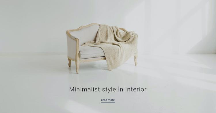 Minimalist style in interior Template