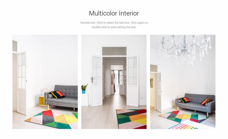 Multicolor interior design Website Mockup