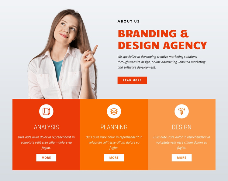 Branding design One Page Template