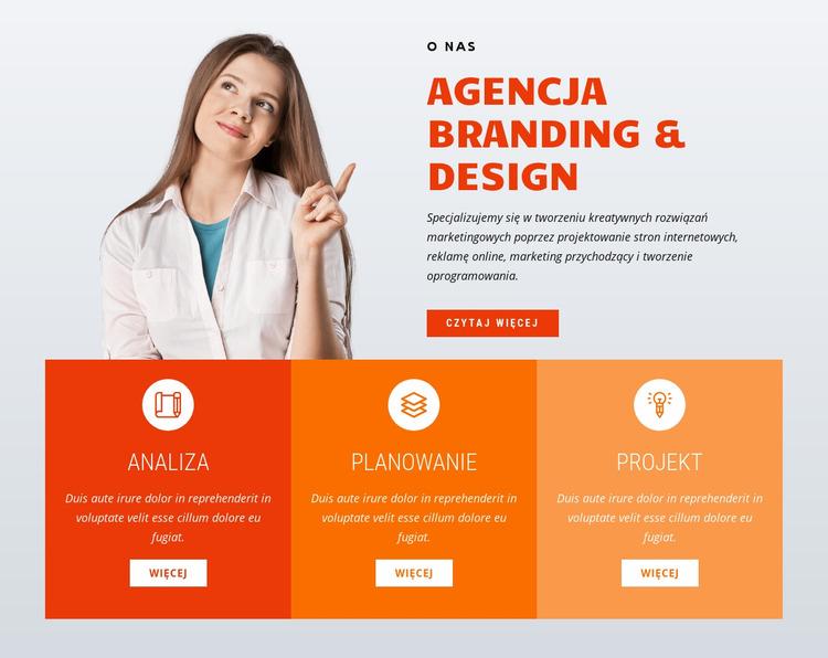 Agencja brandingowo-projektowa Szablon Joomla