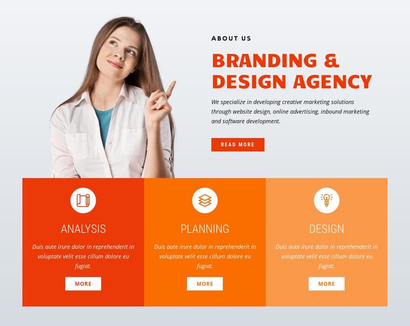 Branding design Web Page Design