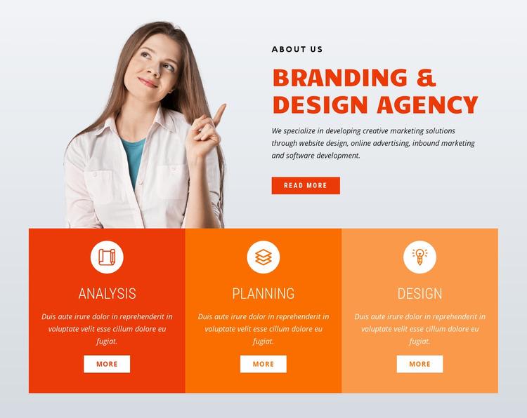 Branding design WordPress Website Builder