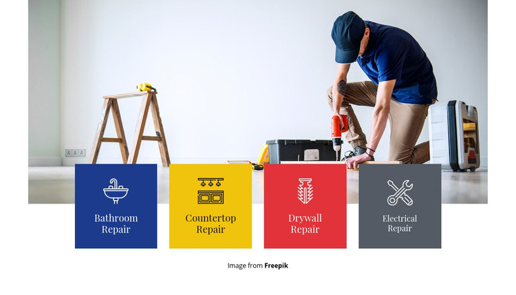 General home repair Homepage Design