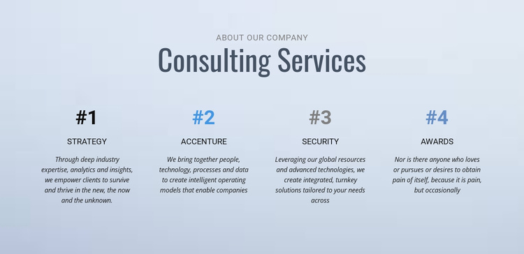Corporate affairs & communications Website Template