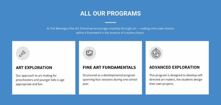 Life-changing art programs Html Website Builder