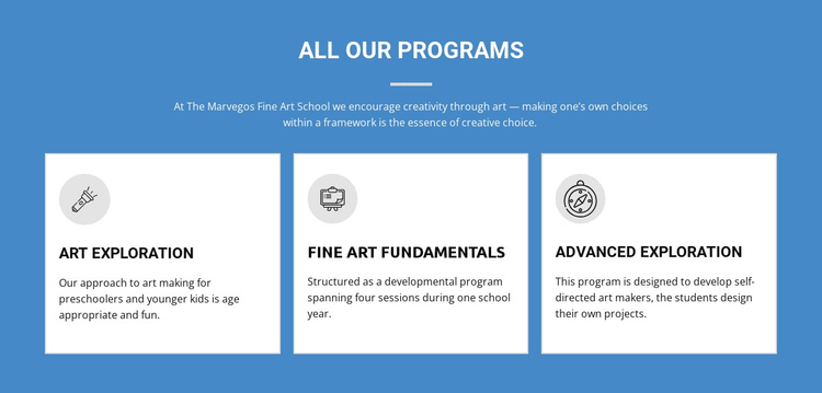 Life-changing art programs One Page Template