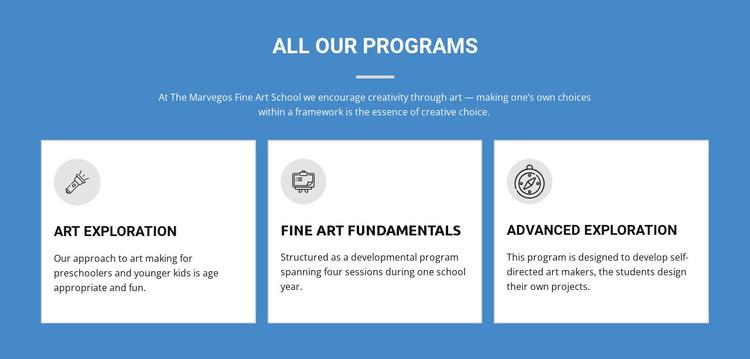 Life-changing art programs Website Builder Software