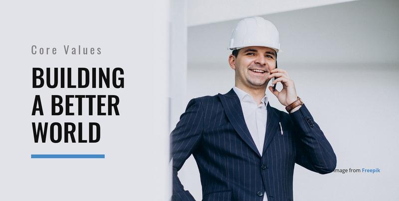 Building a Better World Website Creator