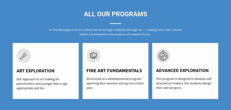 Life-changing art programs Landing Page