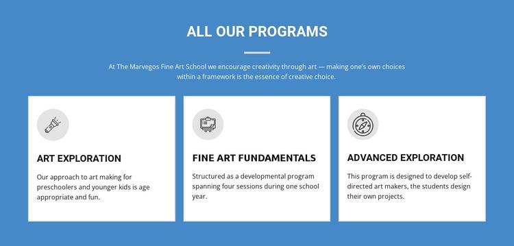 Life-changing art programs WordPress Theme