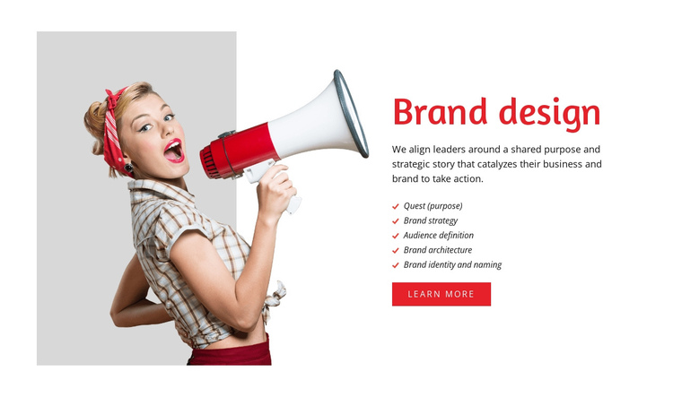 Branding firm with a rich history One Page Template