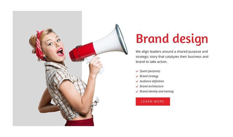 Brand design WordPress Template