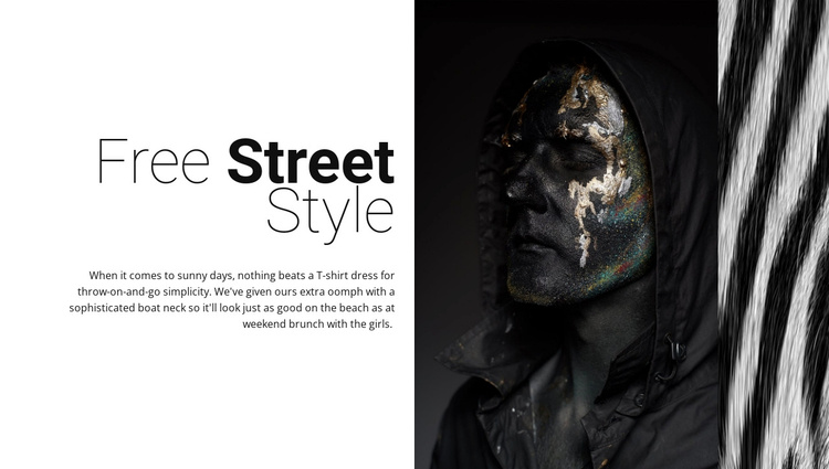 Free street fashion Joomla Template