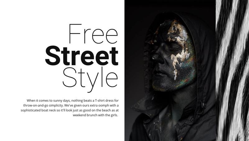 Free street fashion Web Page Design