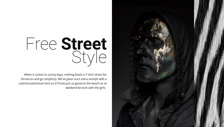 Free street fashion Website Template