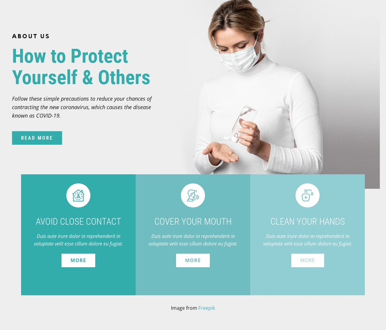 Clean your hands often Landing Page