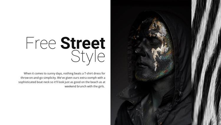 Free street fashion WordPress Theme