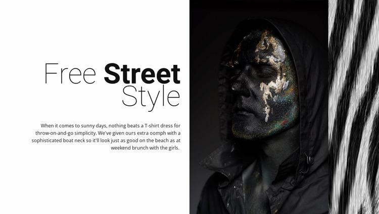 Free street fashion WordPress Website Builder