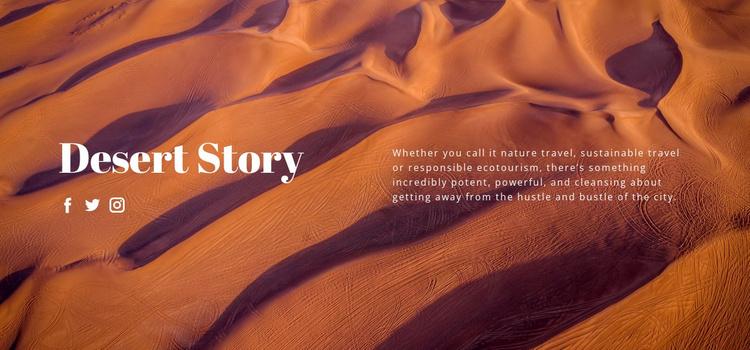 Desert story travel Website Template