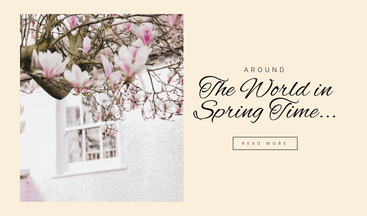 The world in spring HTML Template