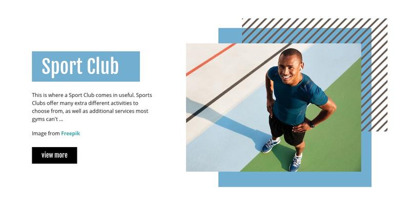 Sport Club Web Page Design