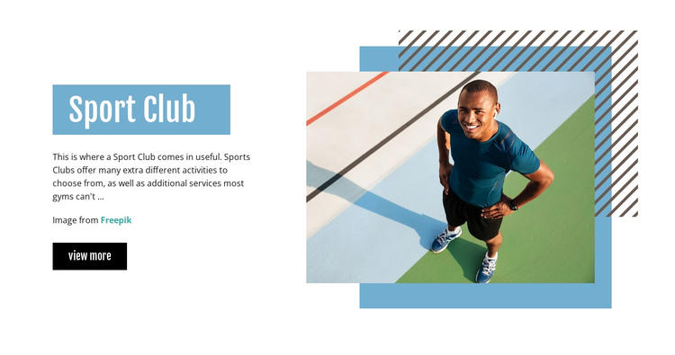 Sport Club Website Builder Software