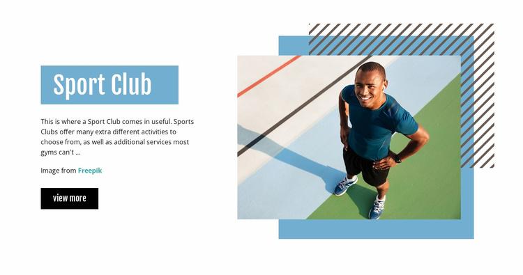 Sport Club Landing Page